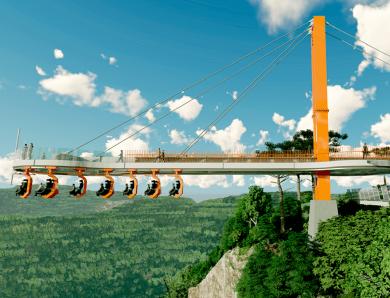 Parque em Canela terá passarela de vidro suspensa a 360 metros de altura